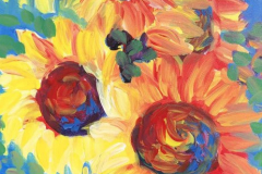 Abstract-Sunflowers