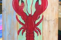 Lobster on wood